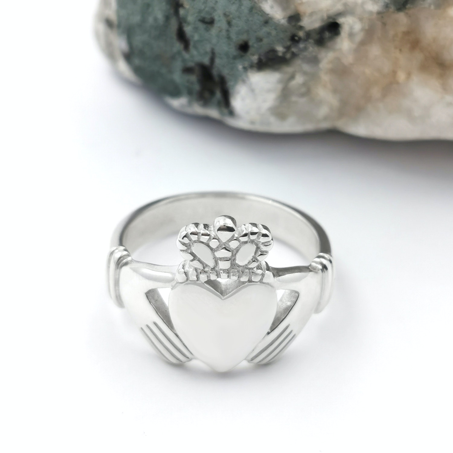 Large Sterling Silver Claddagh ring Claddagh Ring