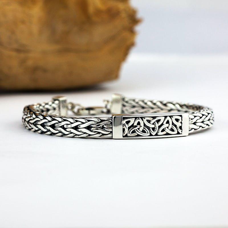 Mens Heavy Sterling Silver Bracelet